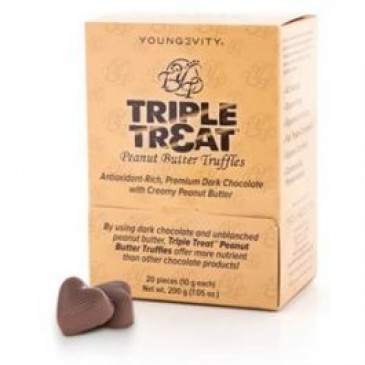 Triple Treat Peanut Butter Truffles (20ct)