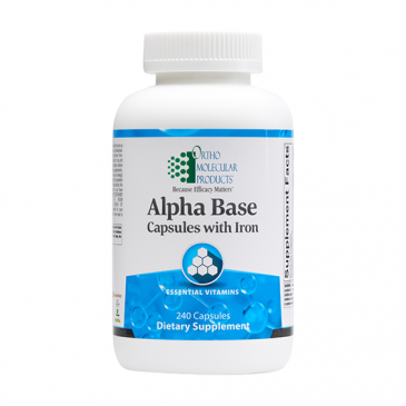 Alpha Base Capsules with Iron - 240 Count