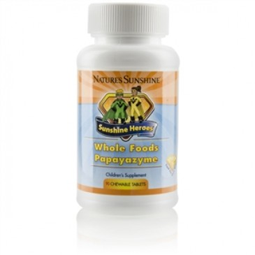 Whole Food Papayazyme (90 chew. tab), Sunshine Heroes