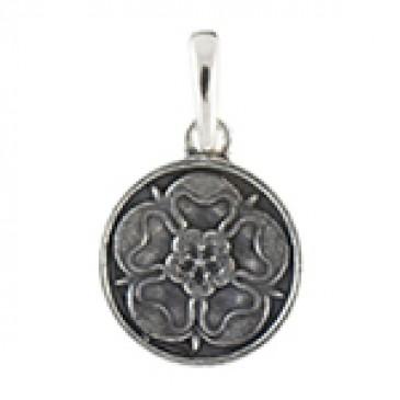 Silver Tudor Rose Droplet