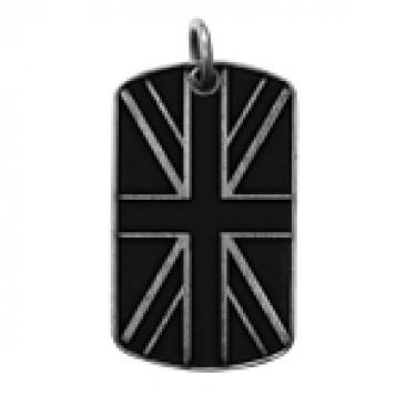 UK Flag Dog Tag