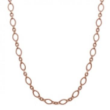 Alternating Textured Link Rose Gold