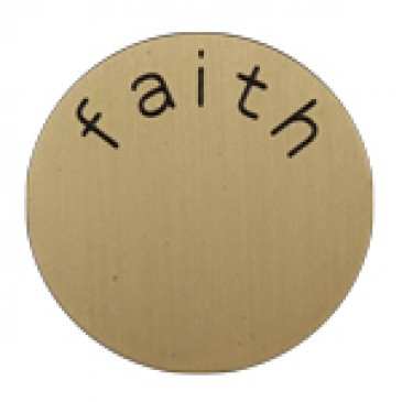 Faith Medium Gold Coin