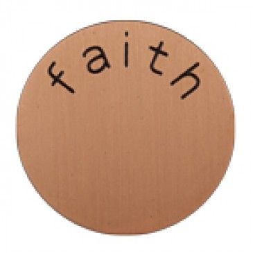 Faith Medium Rose Gold Coin