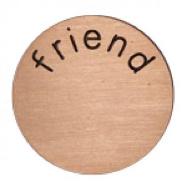 Friend Medium Rose Gold Coin