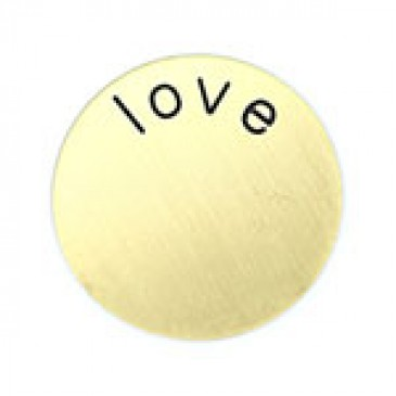 Love Medium Gold Coin