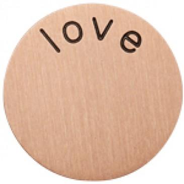 Love Medium Rose Gold Coin