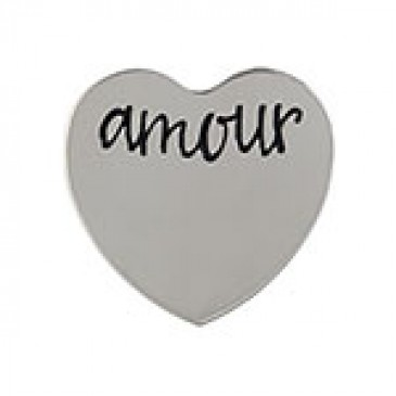 Amour Medium Silver Heart Coin