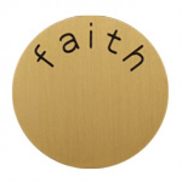 Faith Large Gold Coin