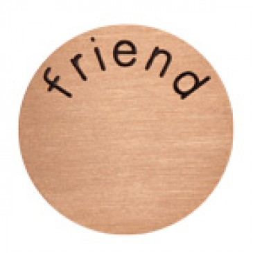 Friend Large Rose Gold Coin