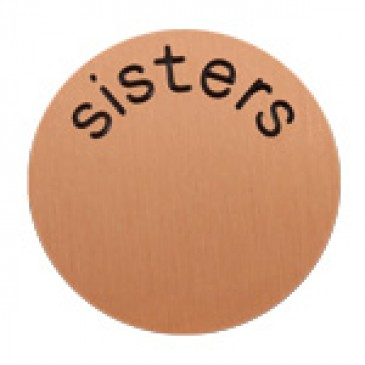 Sisters Large Rose Gold Coin
