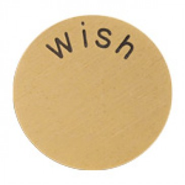 Wish Large Gold Coin