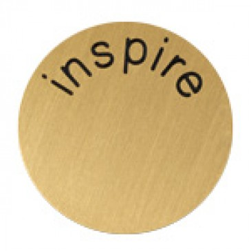Inspire Large Gold Coin