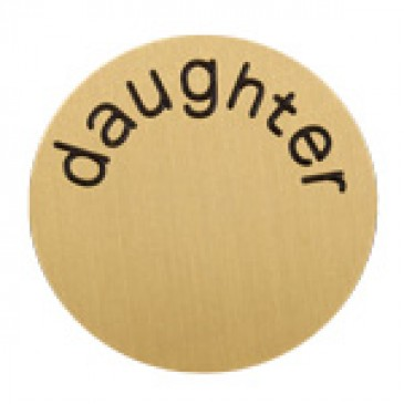 Daughter Large Gold Coin