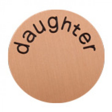Daughter Large Rose Gold Coin