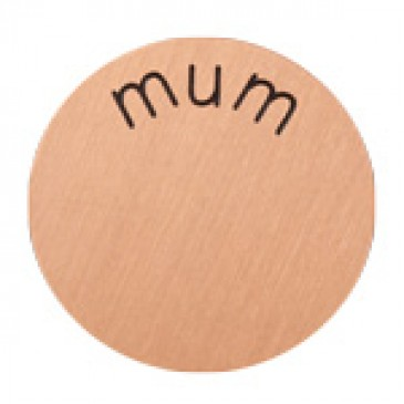 Mum Large Rose Gold Coin