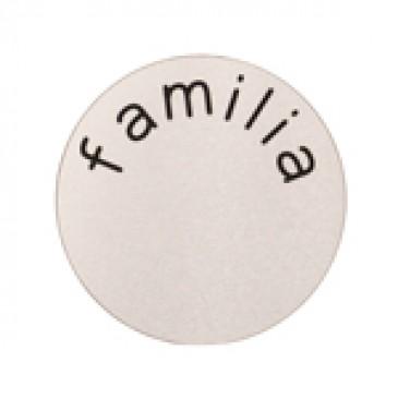 Familia Large Silver Coin