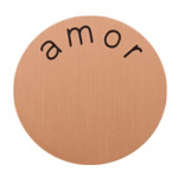 Amor Medium Rose Gold Coin