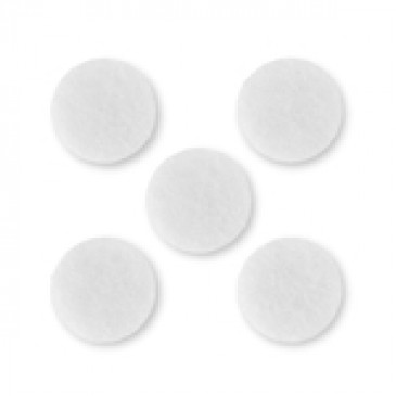 Filigree Round White Scent-able Coin - 5 Pack