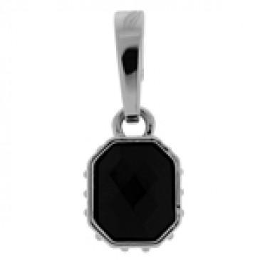Black Faceted Droplet