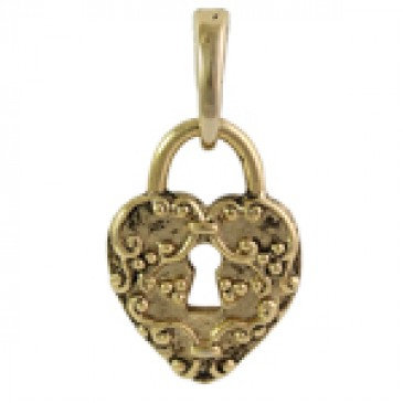 Gold Heart Lock Droplet