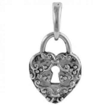 Silver Heart Lock Droplet