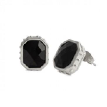 Black Faceted Earrings