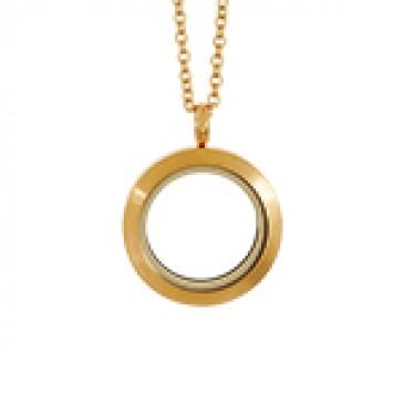 Medium Matte Gold Locket