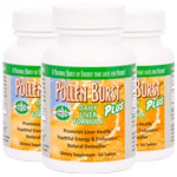 Pollen Burst Plus - Daily Liver Formula - 60 tablets (3 Pack)