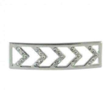 Build A Bracelet: Silver Chevron Screen