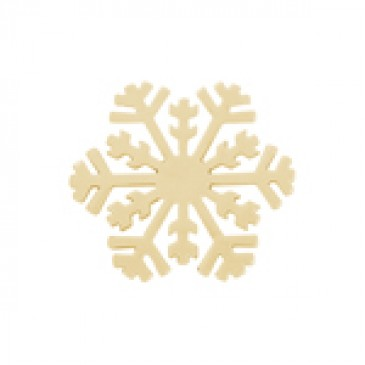 Large Gold Snowflake Screen