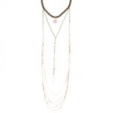 Antique Rose Quartz Necklace