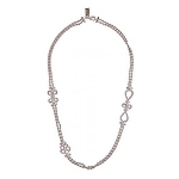 Everlasting Silver Tone Necklace