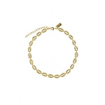 Radiant Gold Tone Necklace