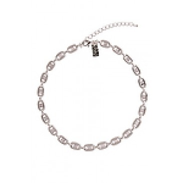 Radiant Silver Tone Necklace
