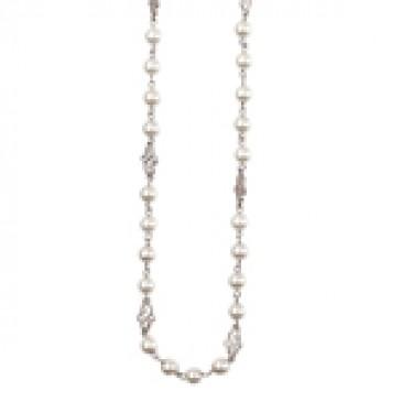 Precious Pearls Silver Necklace