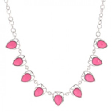Amour Fuchsia Necklace