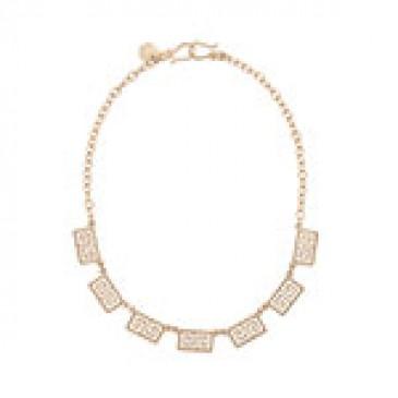 Greek Key Gold Necklace