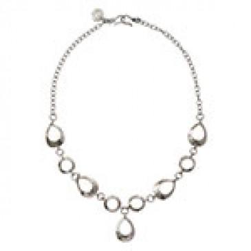 Teardrop Expression Silver Necklace