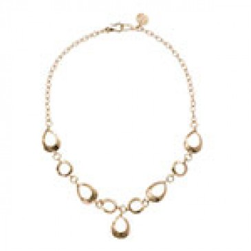 Teardrop Expression Gold Necklace