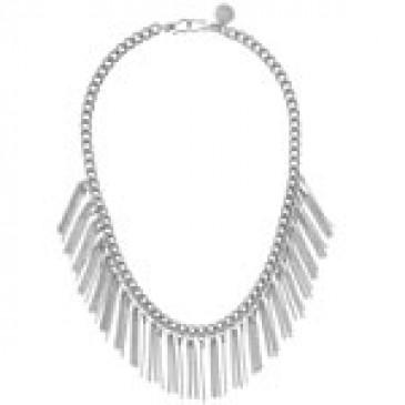 Fringe Silver Necklace
