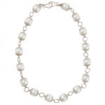 Intricate (pearl) Silver Necklace