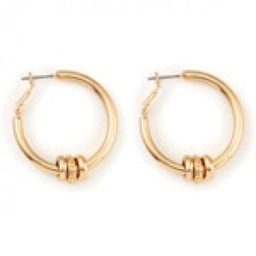 Ella Hoop Gold Earrings