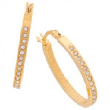 Crystal Hoops Gold