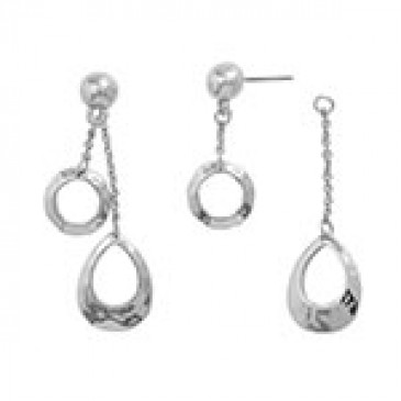 Teardrop Earrings Silver
