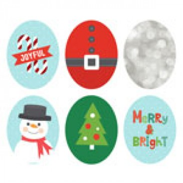 Holiday Oval Locket Backdrops