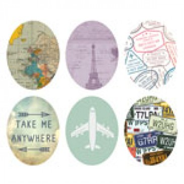 Travel Oval Locket Backdrops