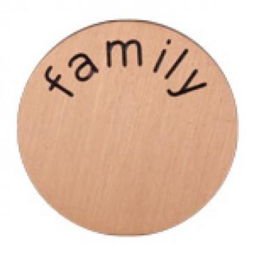 Family Mini Rose Gold Coin