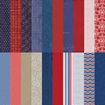 Red, White, and Beautiful by Katie Pertiet Designer Cardstock - Set 10