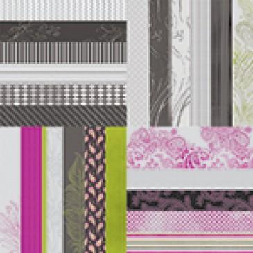 Black Noir Designer Border Strips